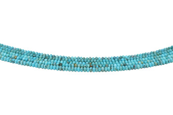 Kingman Turquoise Polished 4mm Rondelle