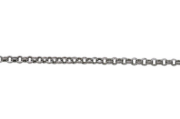 Antique Silver 1.8mm Petite Double Rolo Chain - Sold By 6 Inches