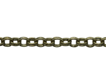 Antique Brass 1.8mm Petite Double Rolo Chain - Sold By 6 Inches