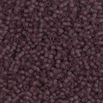 Delicas Size 11 Miyuki Seed Beads -- 1264 Transparent Mauve Matte