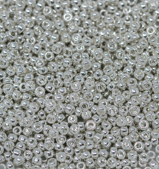 Size 11 Miyuki Seed Beads -- 464E Silver Plated