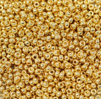 Size 11 Miyuki Seed Beads -- 465 24K Gold Plated