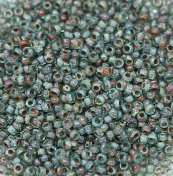 Size 11 Miyuki Seed Beads -- 4506 Picasso Transparent Olivine