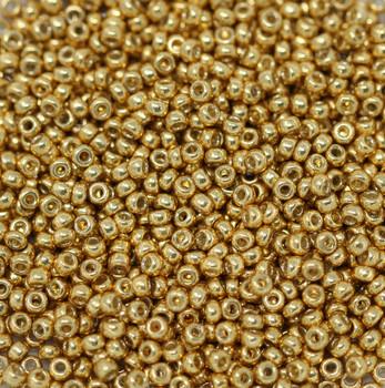 Size 11 Miyuki Seed Beads -- D4202 Duracoat Galvanized Gold