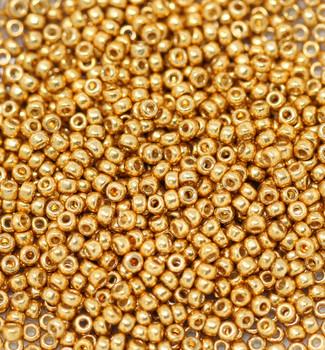 Size 11 Miyuki Seed Beads -- D4203 Duracoat Galvanized Deep Gold
