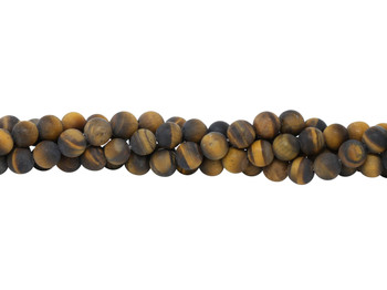 Tiger Eye Matte 10mm Round