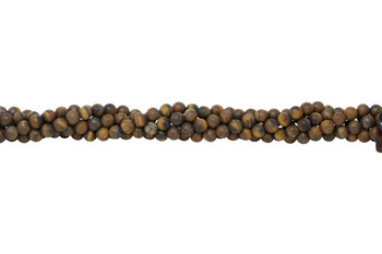 Tiger Eye Matte 8mm Round