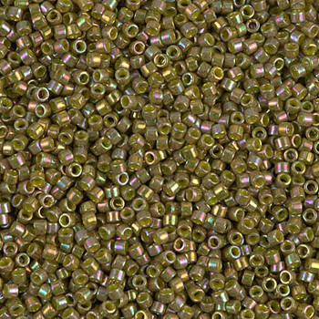 Delicas Size 11 Miyuki Seed Beads -- 133 Olive AB