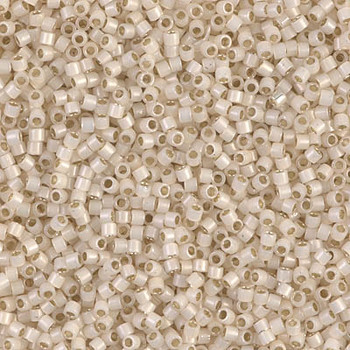 Delicas Size 11 Miyuki Seed Beads -- 1451 Pale Cream Opal / Silver Lined