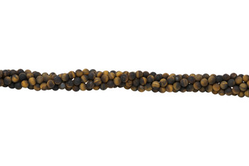Tiger Eye Matte 6mm Round