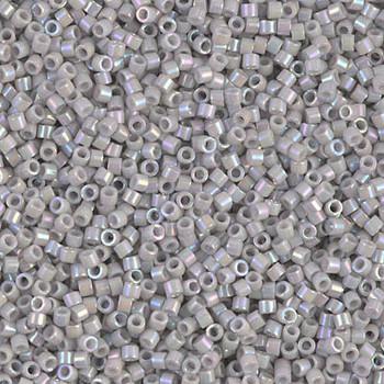 Delicas Size 11 Miyuki Seed Beads -- 1508 Opaque Light Smoke AB