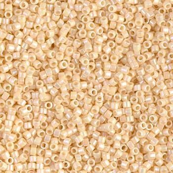 Delicas Size 11 Miyuki Seed Beads -- 157 Opaque Cream AB