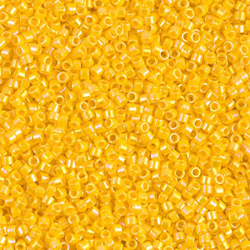 Delicas Size 11 Miyuki Seed Beads -- 1572 Opaque Canary AB