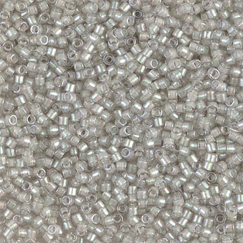 Delicas Size 11 Miyuki Seed Beads -- 1711 Grey Mist AB / Pearl Lined