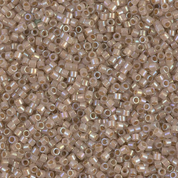 Delicas Size 11 Miyuki Seed Beads -- 1731 Opal AB / Beige Lined