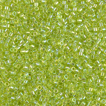 Delicas Size 11 Miyuki Seed Beads -- 174 Transparent Chartreuse AB