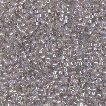 Delicas Size 11 Miyuki Seed Beads -- 1771 Light Tea Rose AB / Sparkle Pewter Lined