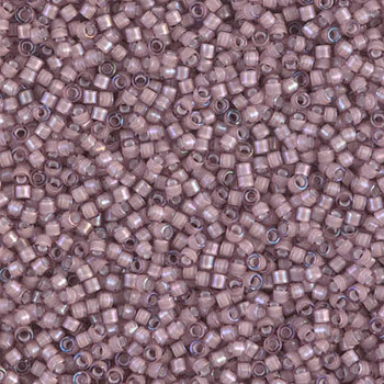Delicas Size 11 Miyuki Seed Beads -- 1791 Smoky Amethyst AB / White Lined