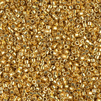 Delicas Size 11 Miyuki Seed Beads -- 1832 Duracoat Galvanized Gold