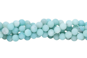 Amazonite Deep Blue Matte 8mm Round