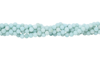 Amazonite Light Blue Matte 8mm Round