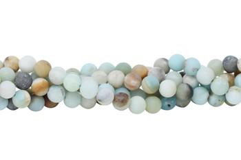 Amazonite A Grade Multi Color Matte 6mm Round