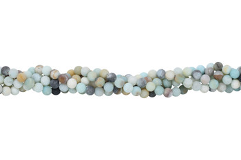 Amazonite A Grade Multi Color Matte 8mm Round