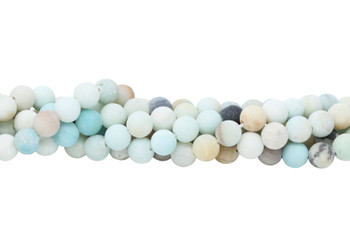 Amazonite Multi Color Matte 10mm Round - Large Hole
