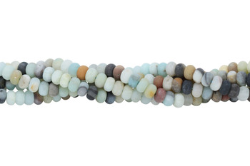 Amazonite Multi Color Matte 4x6mm Rondel