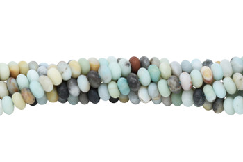 Amazonite Multi Color Matte 8mm Rondel