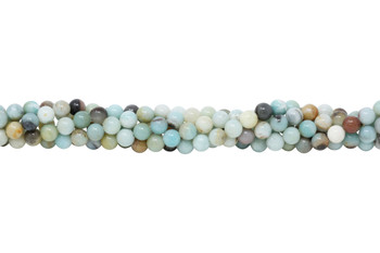 Amazonite Multi Color Polished 6mm Round