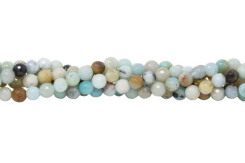 Amazonite Multi Color Polished 6mm Faceted Round