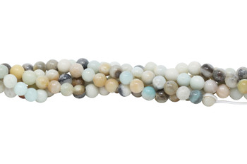 Amazonite Multi Color Polished 8mm Round - Large Hole