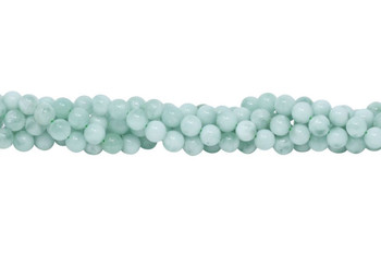 Green Angelite Polished 8mm Round