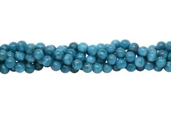 Apatite Polished 8mm Round - Turquoise Blue