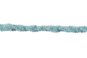 Apatite Polished 3mm Faceted Round - Light Blue