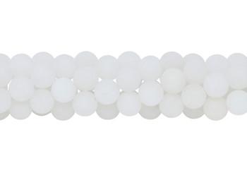 White Jade Matte 10mm Round
