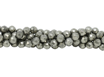 Pyrite Polished 10mm Faceted Round