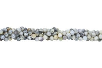 Grey Dendritic Agate Polished 8mm Round