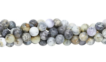 Grey Dendritic Agate Polished 10mm Round