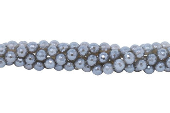 Grey Agate Polished Coated 8mm Faceted Round