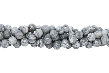 Grey Crazy Lace Agate Polished 10mm Faceted Round