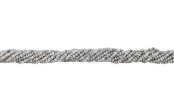 Corundum Grey Tones Polished 3mm Faceted Rondel
