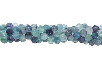 Rainbow Fluorite Polished 8mm Melon