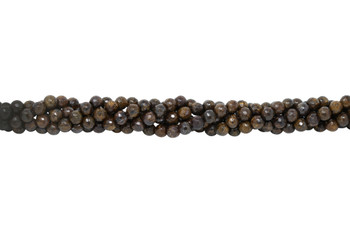 Bronzite Polished 6mm Faceted Round