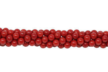 Red Coral Polished 6mm Round