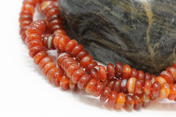 Carnelian Polished 6mm Rondel