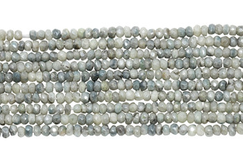 Corundum Blue Tones Polished 3mm Faceted Rondel