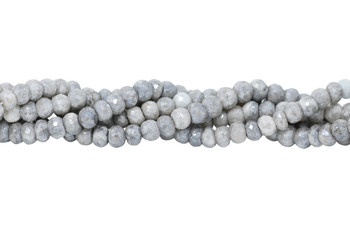 Corundum Grey Tones Polished 4-6mm Faceted Rondel