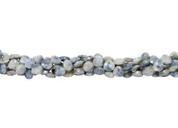 Corundum Polished 10mm Faceted Center Drill Drop